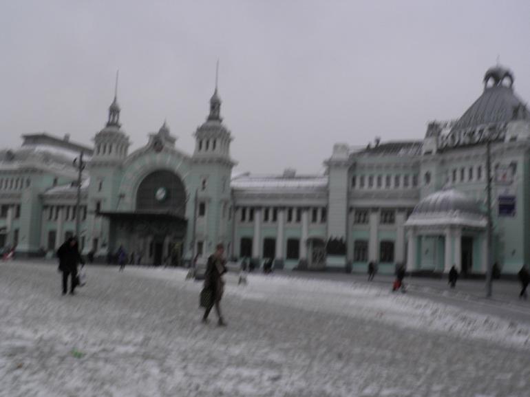 Ο σιδηροδρομικός σταθμός Белору́сская