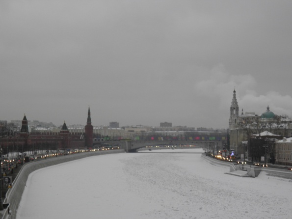 Ο παγωμένος ποταμός Μοσχοβα.