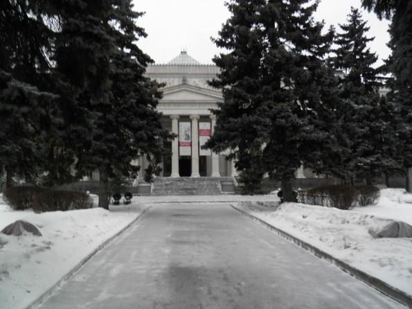 Το μουσείο Πούσκιν.Το δημοφιλέστερο της πόλης.