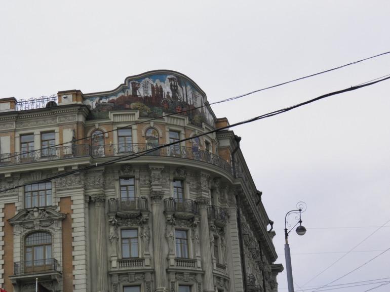 Λεπτομέρεια κτιρίου στην οδό Тверская